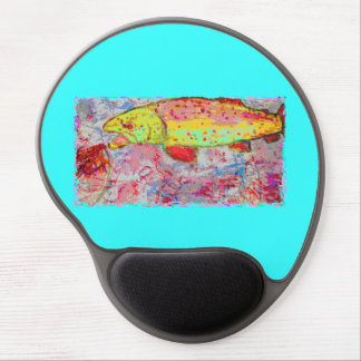 rainbow chasing fly gel mouse pad