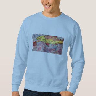 rainbow chasing fly sweatshirt