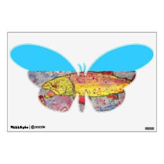 rainbow chasing fly wall sticker