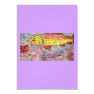 rainbow chasing trout card