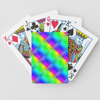 Rainbow Checker by Kenneth Yoncich Bicycle Playing Cards