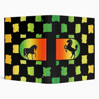 Rainbow Checker Horse binder