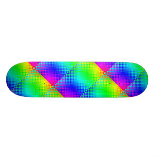 Rainbow Checker Skateboard