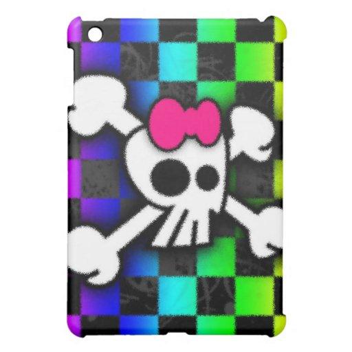 Rainbow Checker Skull iPad Phone Cover For The iPad Mini