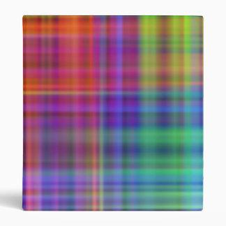 Rainbow Checker Vinyl Binder