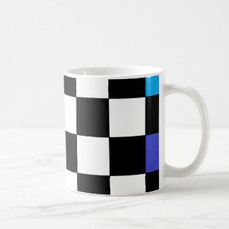 Rainbow Checkerboard CricketDiane Classic White Coffee Mug