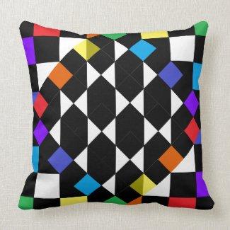 Rainbow Checkerboard Fashion Beach Picnic Pillows