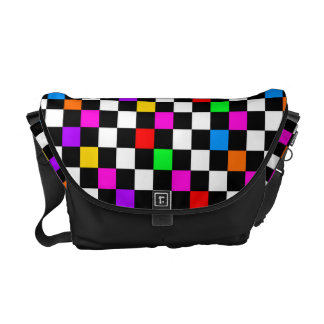 RAINBOW CHECKERBOARD COURIER BAGS