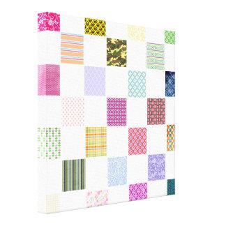 Rainbow Checkerboard pattern Canvas Print