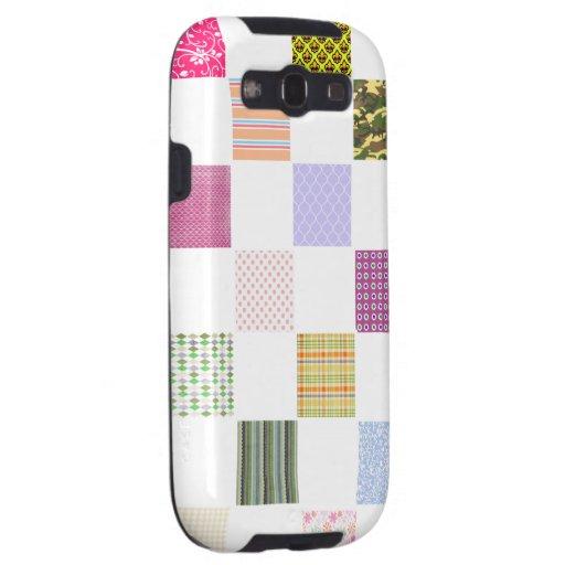 Rainbow Checkerboard pattern Samsung Galaxy S3 Covers