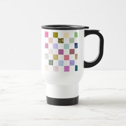 Rainbow Checkerboard pattern Coffee Mug