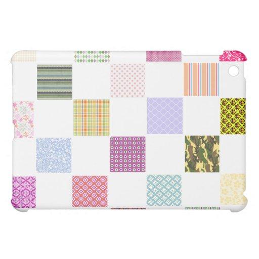 Rainbow Checkerboard pattern iPad Mini Case