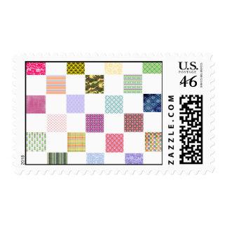Rainbow Checkerboard pattern Stamp