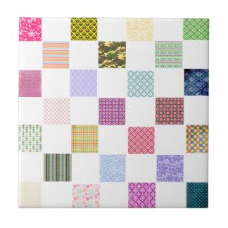 Rainbow Checkerboard pattern Tile