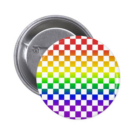 Rainbow Checkers Button 01