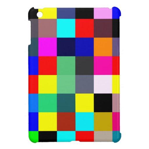 Rainbow Checkers iPad Mini Covers