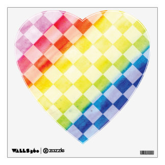 Rainbow Checkers Wall Sticker