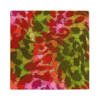 Rainbow Cheetah Abstract Pattern Wooden Coaster