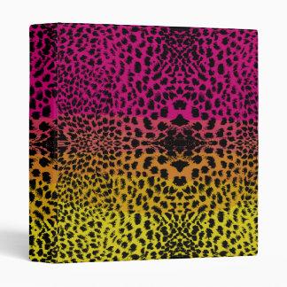 Rainbow Cheetah Binder