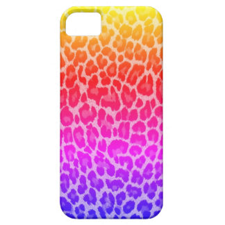 Rainbow cheetah iPhone 5 cases