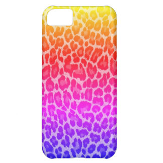 Rainbow cheetah iPhone 5C cases