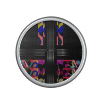 Rainbow Cheetah Fancy Pattern Bluetooth Speaker