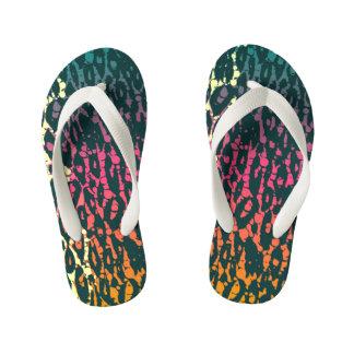 Rainbow Cheetah Kid's Flip Flops