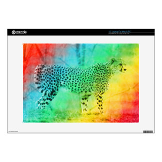 Rainbow Cheetah Laptop Skins