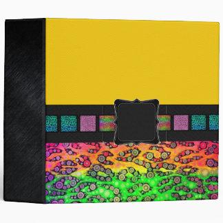 Rainbow Cheetah Monogram 3 Ring Binders