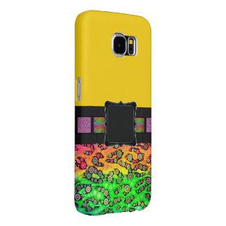 Rainbow Cheetah Monogram Samsung Galaxy S6 Cases