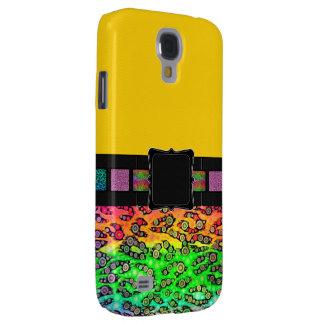 Rainbow Cheetah Monogram Samsung Galaxy S4 Covers