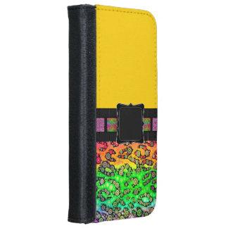Rainbow Cheetah Monogram iPhone 6 Wallet Case