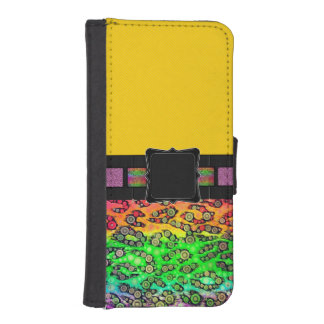 Rainbow Cheetah Monogram Phone Wallet