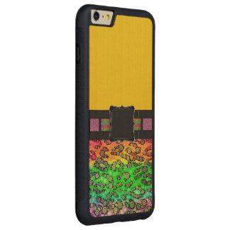 Rainbow Cheetah Monogram Carved® Maple iPhone 6 Plus Bumper Case