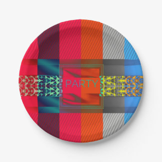 Rainbow Cheetah Party Paper Plate