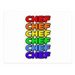 Rainbow Chef Postcard