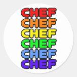 Rainbow Chef Round Stickers