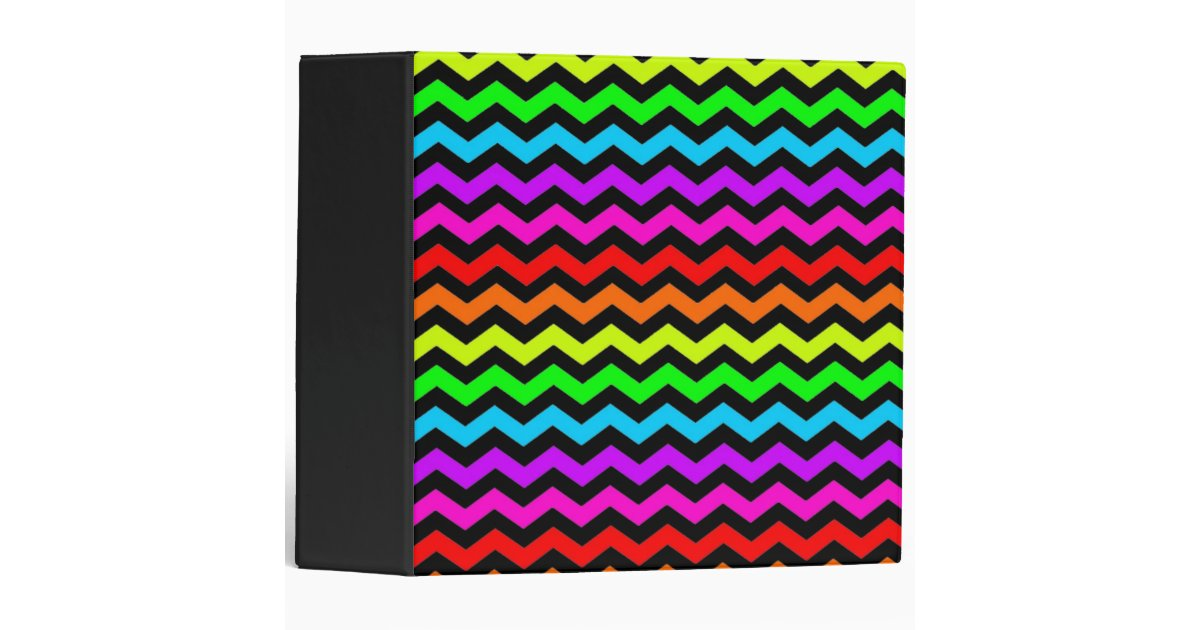 rainbow chevron 2 inch 3 ring binder