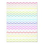 Rainbow chevron 4.25x5.5 paper invitation card