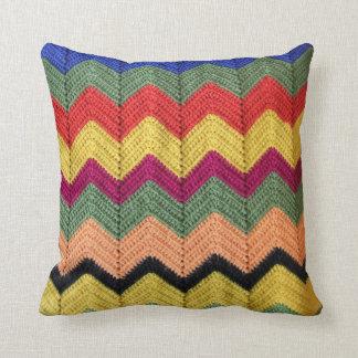Rainbow Chevron Afghan Throw Pillow