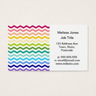 Rainbow chevron business card