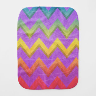 Rainbow Chevron by Shirley Taylor Burp Cloth