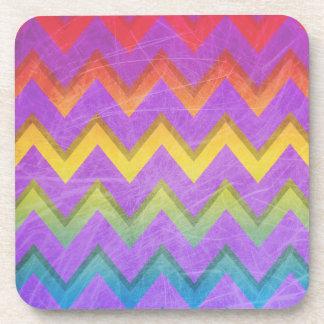 Rainbow Chevron by Shirley Taylor Coaster