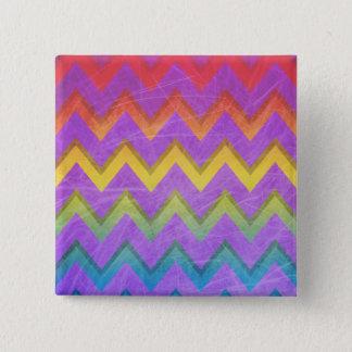 Rainbow Chevron by Shirley Taylor Pinback Button