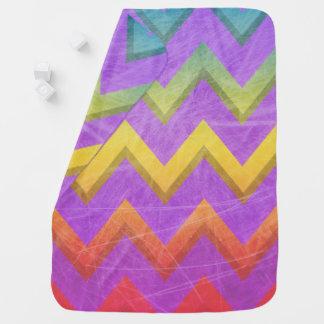 Rainbow Chevron by Shirley Taylor Receiving Blanket