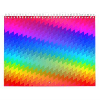 Rainbow chevron calendar