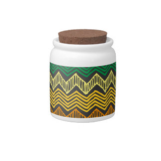 Rainbow Chevron Candy Jar