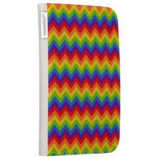 Rainbow Chevron Kindle Folio Cases