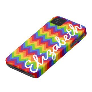 Rainbow Chevron iPhone 4 Case