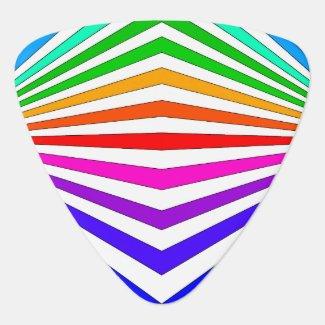 Rainbow Chevron Colorbands Guitar Pick